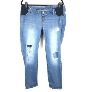 MATERNITY distressed skinny jeans G29